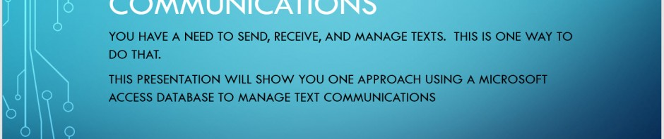 Managing text communications